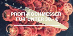 Das Küchenmesser von WIDDER bei uns im Test mit fein zerschnittenen Tomaten